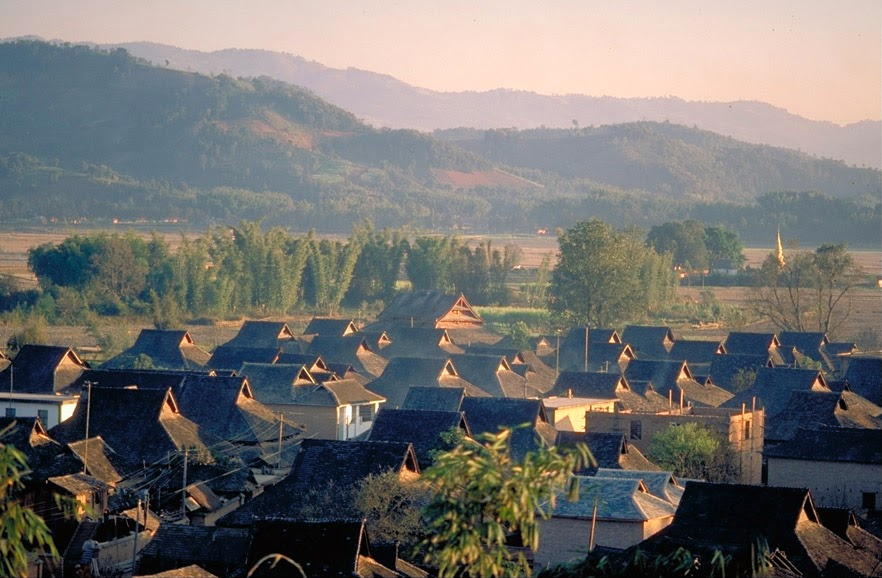 Dai village near Menghai in 1998
