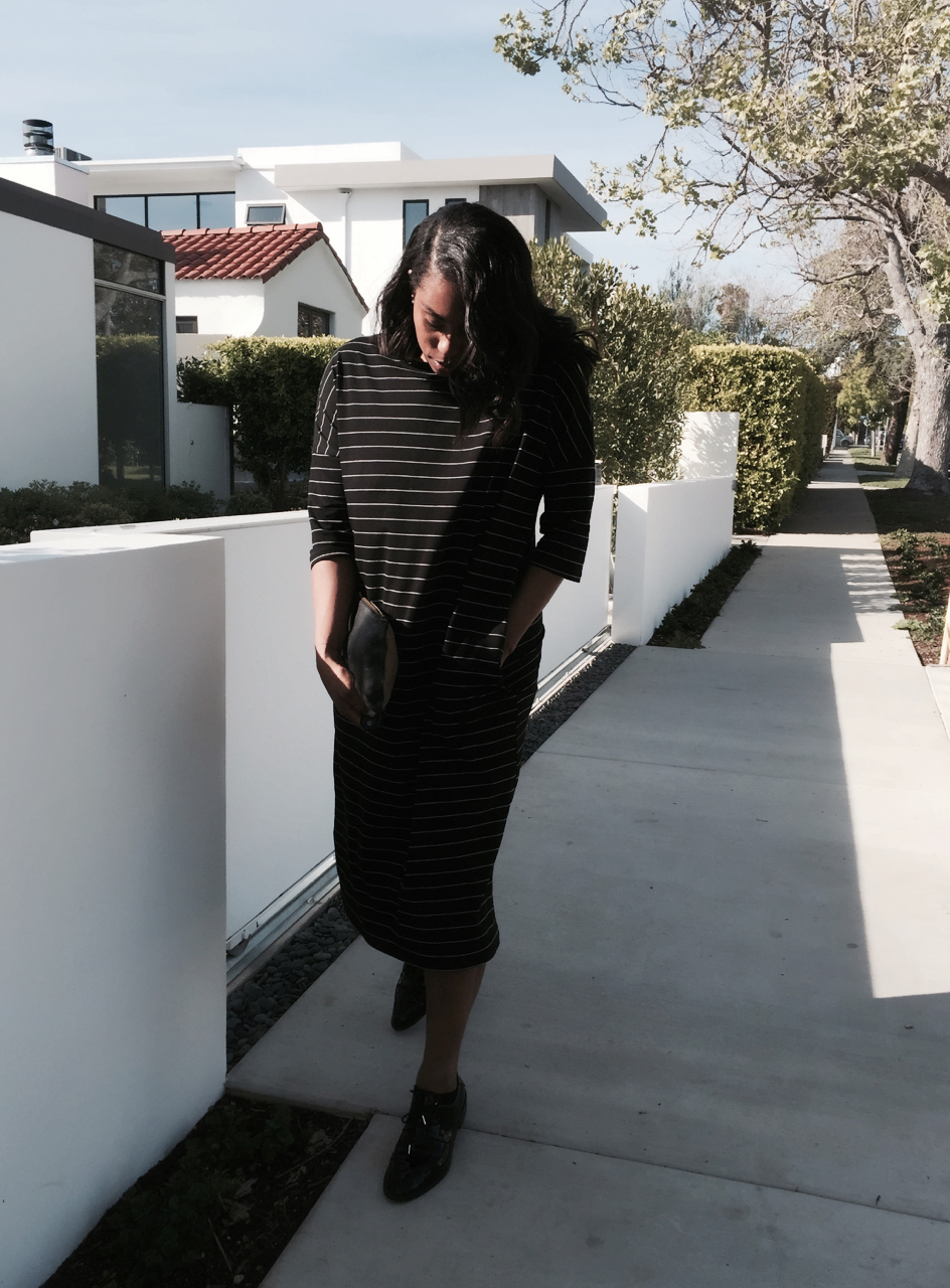 Zara striped oversized dress black and white zara black oxford shoes