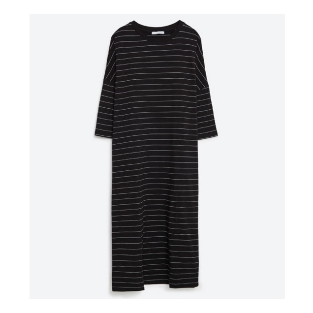 Zara Striped Oversized Dress