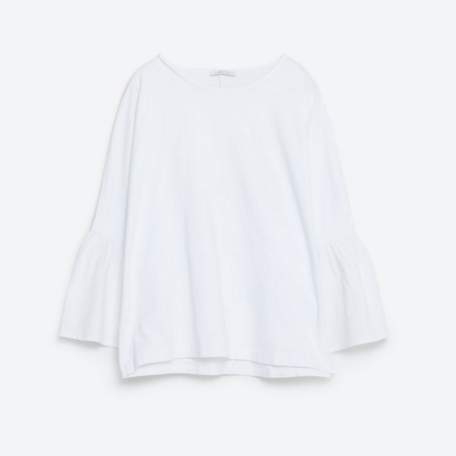Zara Poplin Sleeves Top