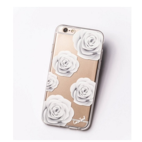 White Roses Clear iPhone 6 Case