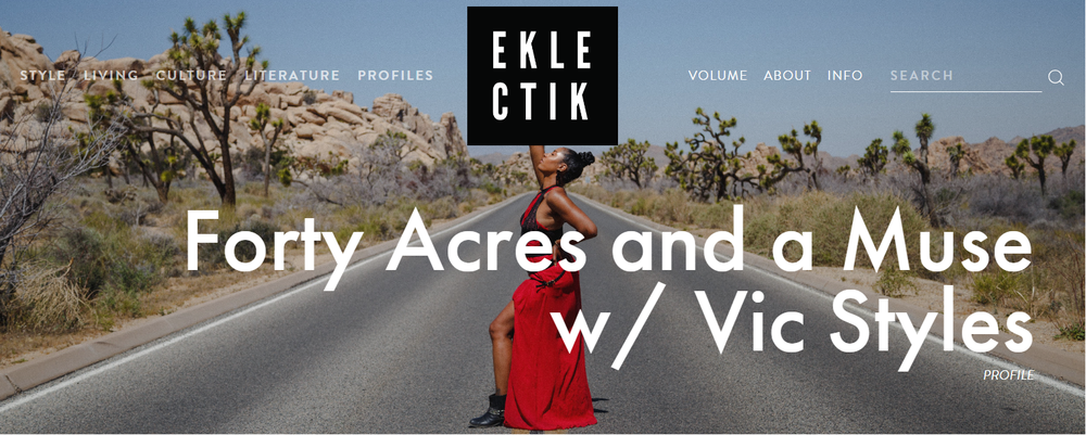 VIC STYLES PHOTOGRAPHED BY RYAN WEITZEL FOR EKLECTIK MAGAZINE, DIRECTED BY PAMELA LASHALL