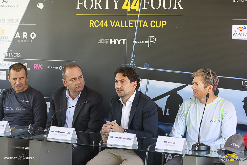 Yachting Events Director Niki Travers Tauss at the Press Conference to launch the official programme of events of the 2016 RC44 Valletta Cup
