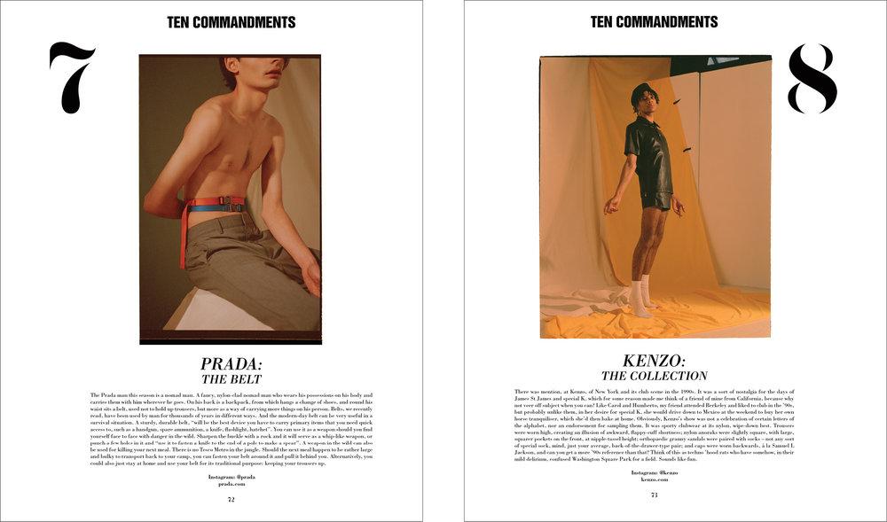 10 COMMANDMENTS - 10 MEN - ISSUE 45 - AW16