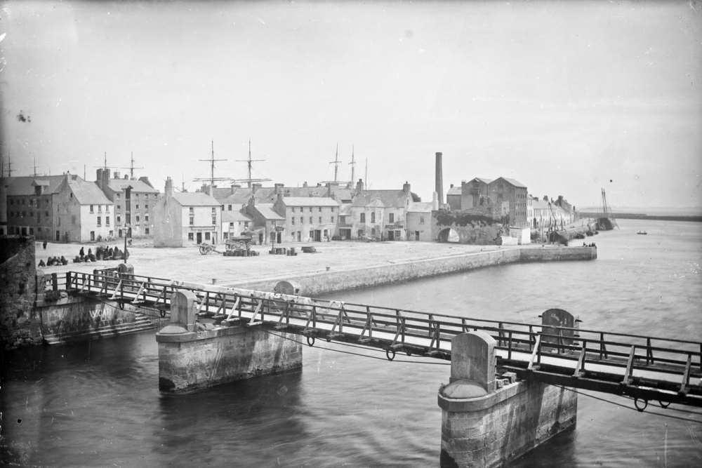 The Spanish Arch and old Galway fish market lies adjacent to the Claddagh, separated by the estuary of the river Corrib