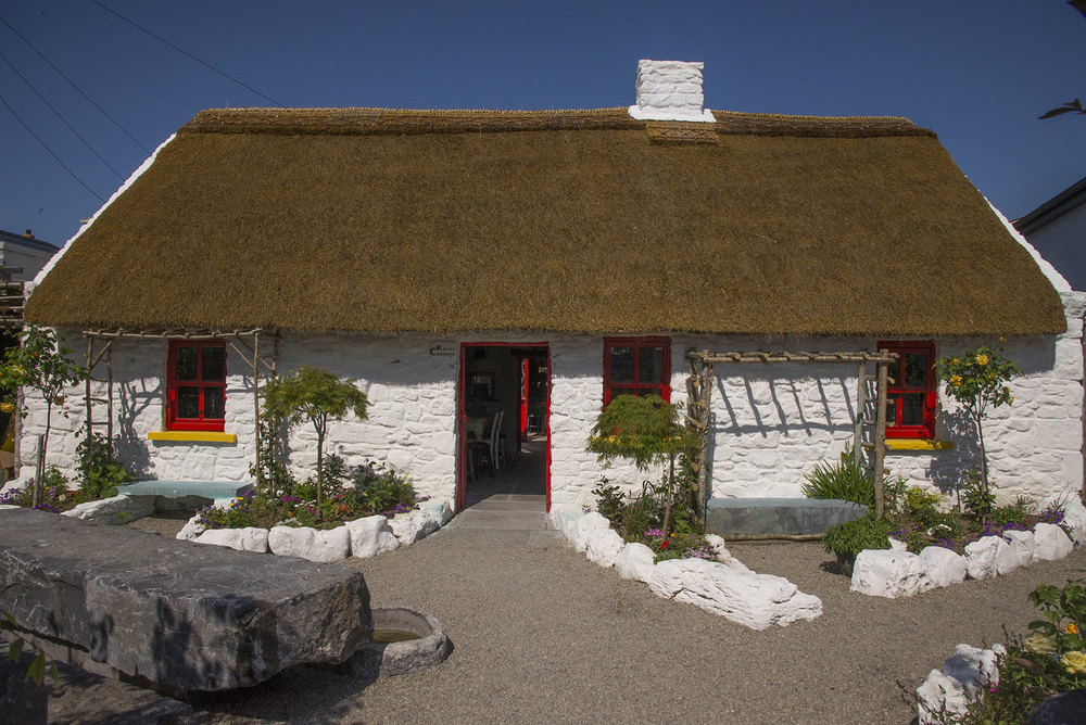 The replica Claddagh cottage and arts centre, five minutes walk from Galway's historical centre