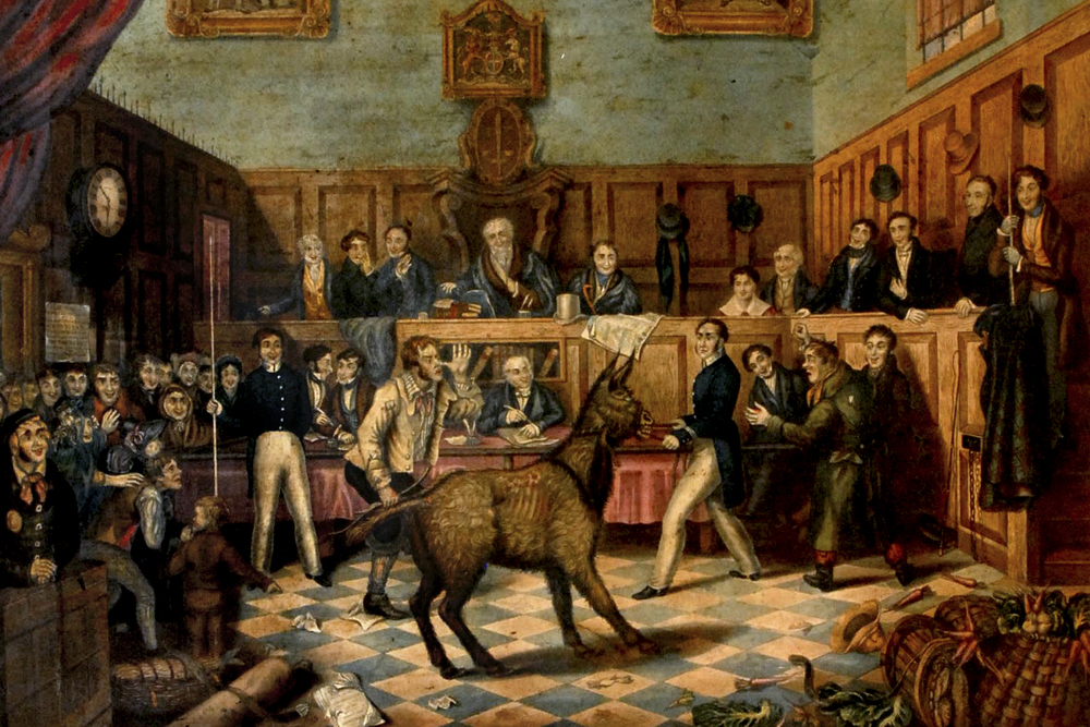 Richard Martin at the trial of Bill Burns, which led to the world's first known conviction for animal cruelty
