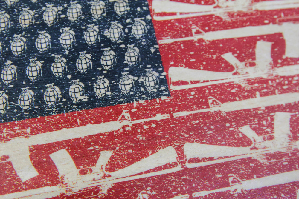 THE WAR FLAG IMAGE WAS CREATED IN 2010 BY GRAPHIC ARTIST AND DESIGNER, NOAH-G.