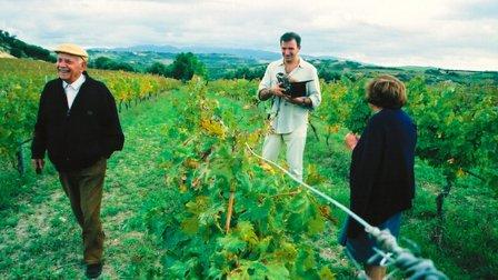 Battista e Lina Columbu con J. Nossiter durante le riprese