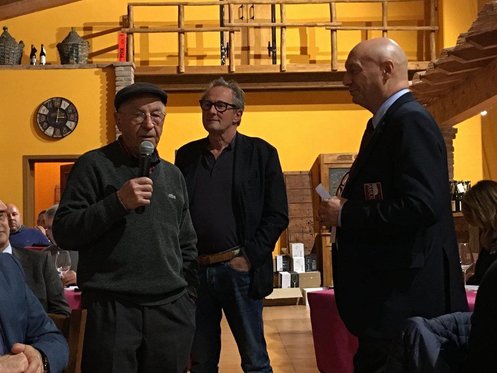 Lino Maga, Walter Massa e Vito Intini, presidente nazionale ONAV (Credits: Livio Zucchelli).