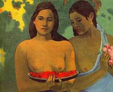 P. Gaugin, Fanciulle tahitiane con fiori di mango (1899)
