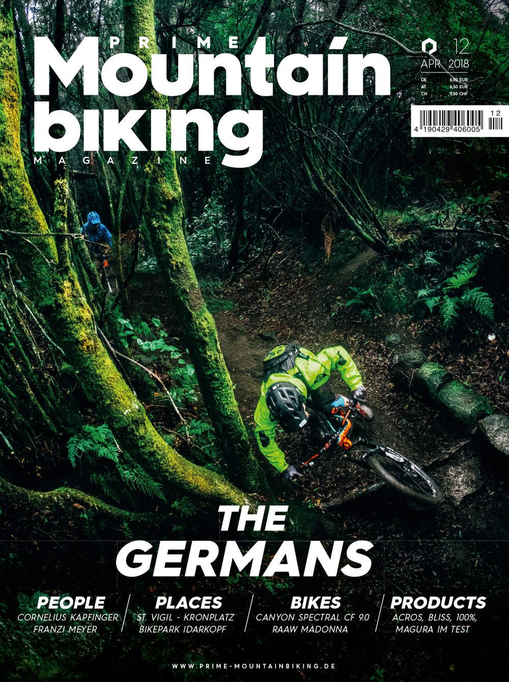 Cover for  Prime Mountainbiking Magazine