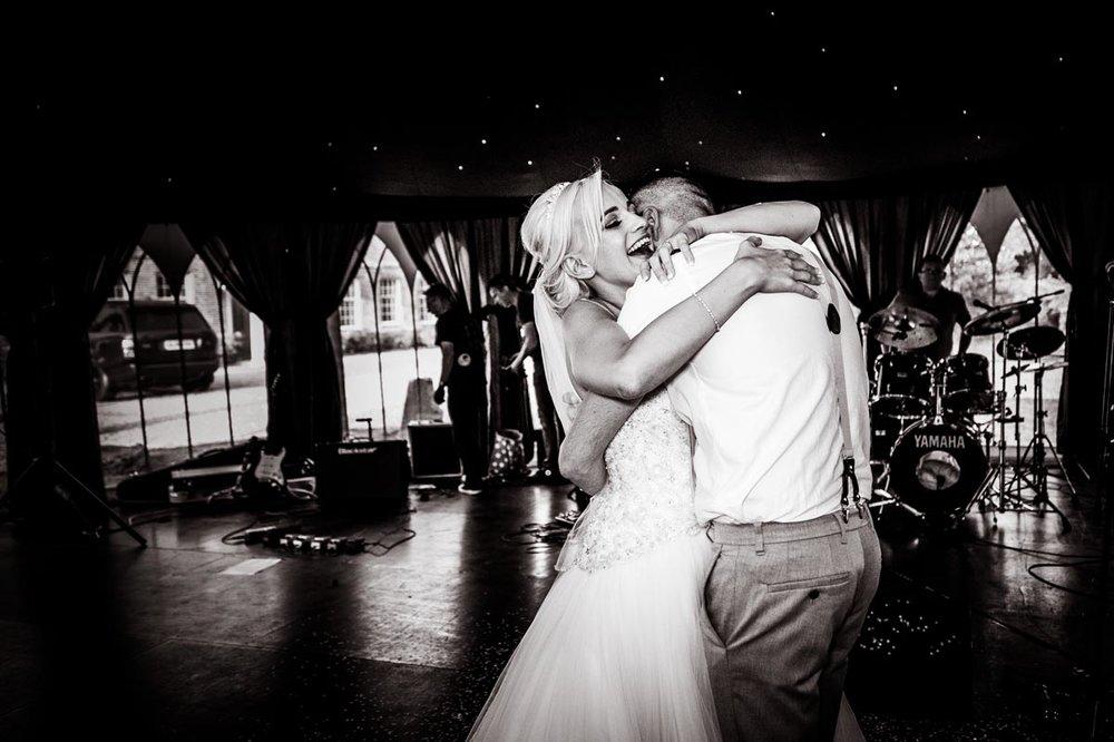 Bride and Groom first dance at Westenhanger Castle