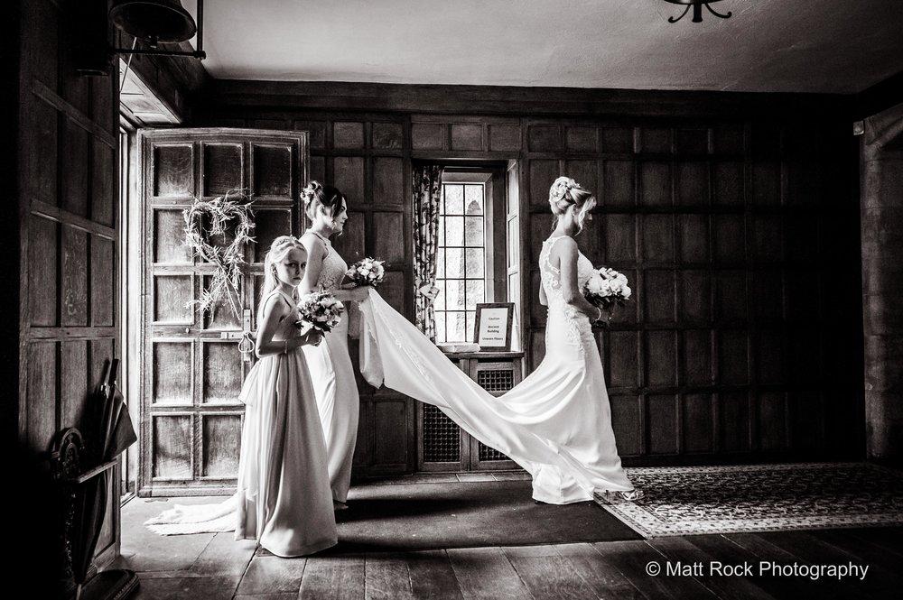Lympne Castle, Kent - Bride walking to her ceremony at Lympne Castle
