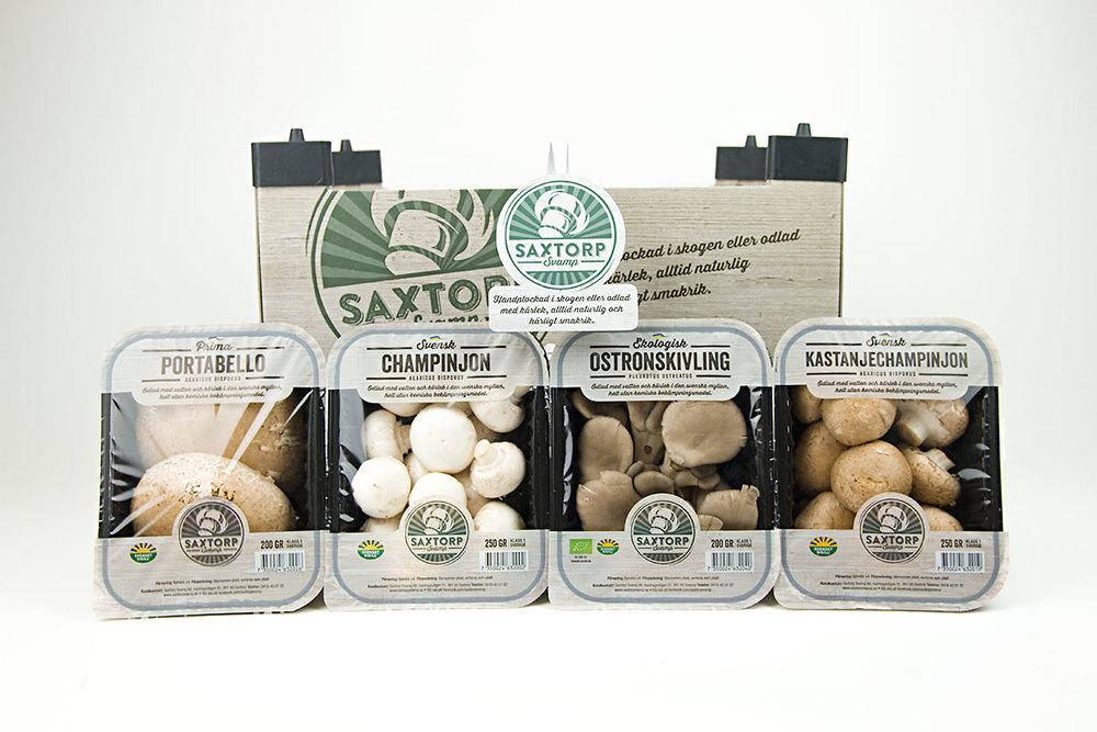 Nkel skapade nya förpackningar för Saxtorp Svamp.