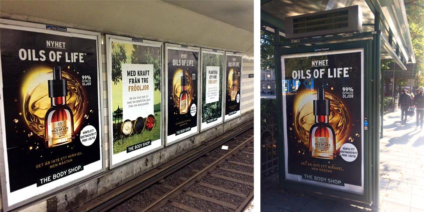 Stor utomhuskampanj för The Body Shop