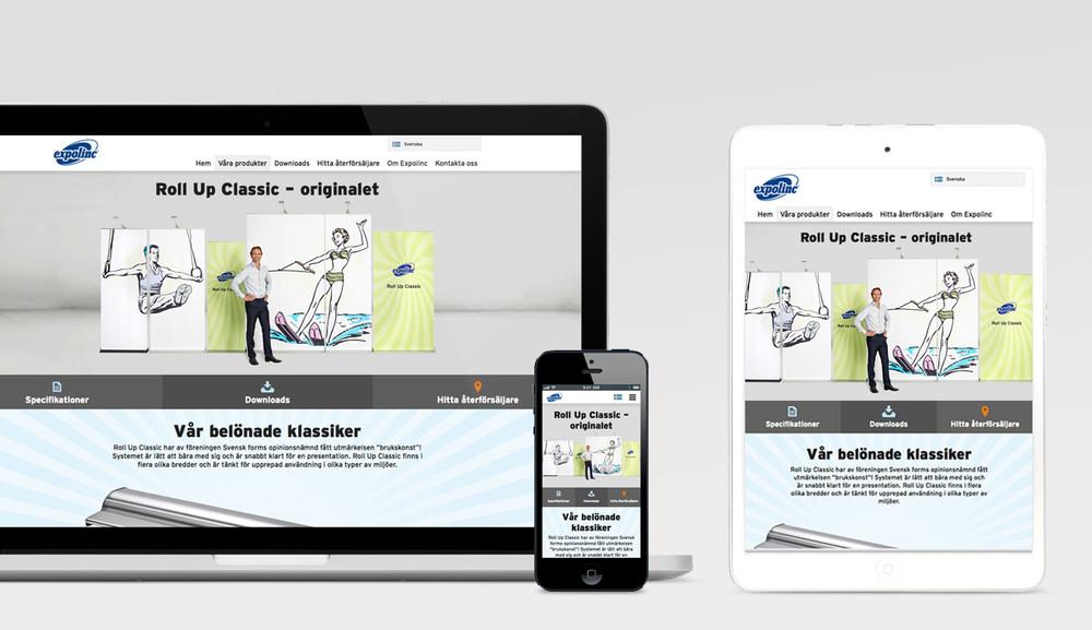Nkel har hjälpt Expolinc med deras nya hemsida.