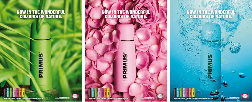 Reklambyråkampanj för Primus termosar