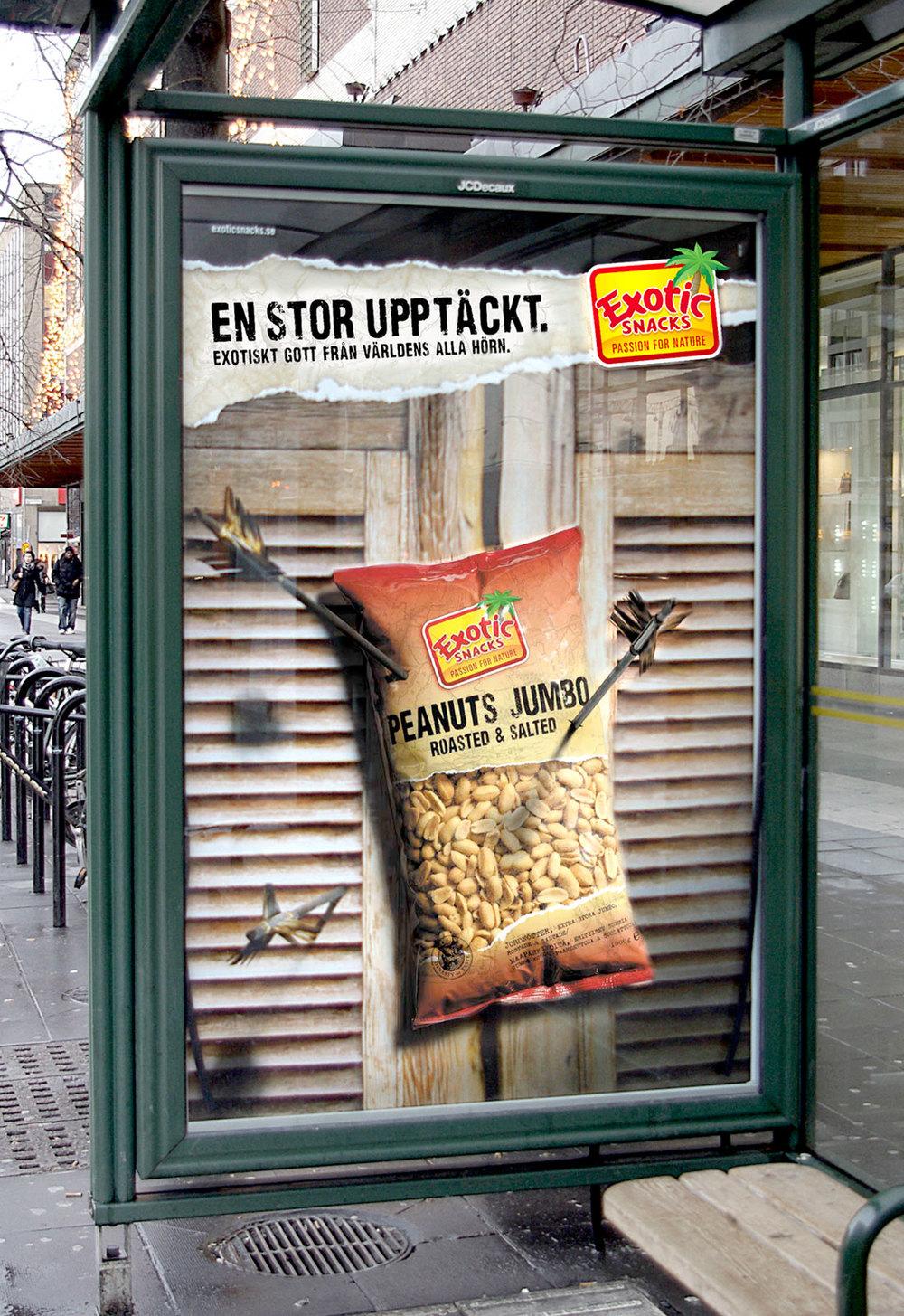"""Nkel tog fram konceptet """"Upptäck"""" som berättar om Exotic Snacks senaste upptäckter i form av exotiskt gott från hela världen."""