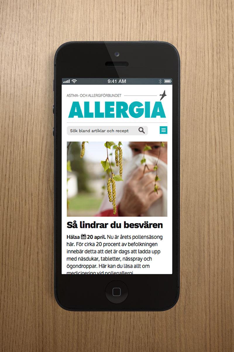 Allergia.se lanserades i början 2016