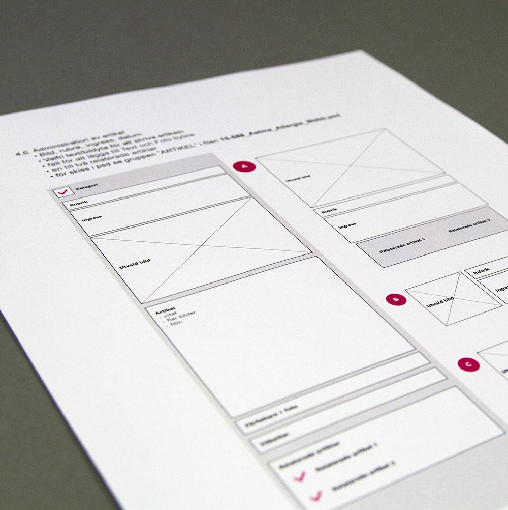 Stor vikt lades vid planeringen av funktionaliteten –att skapa ett levande innehåll med flexibla moduler