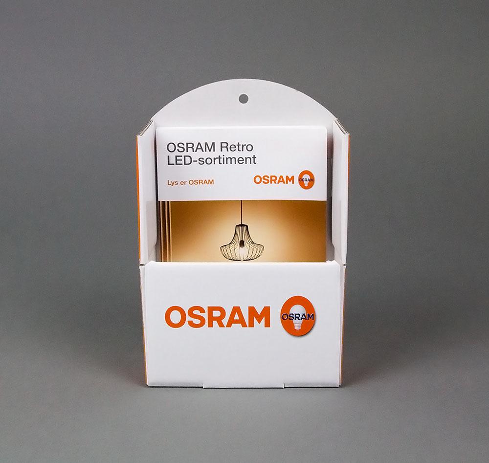 Broschyrställ Osrams lampguide