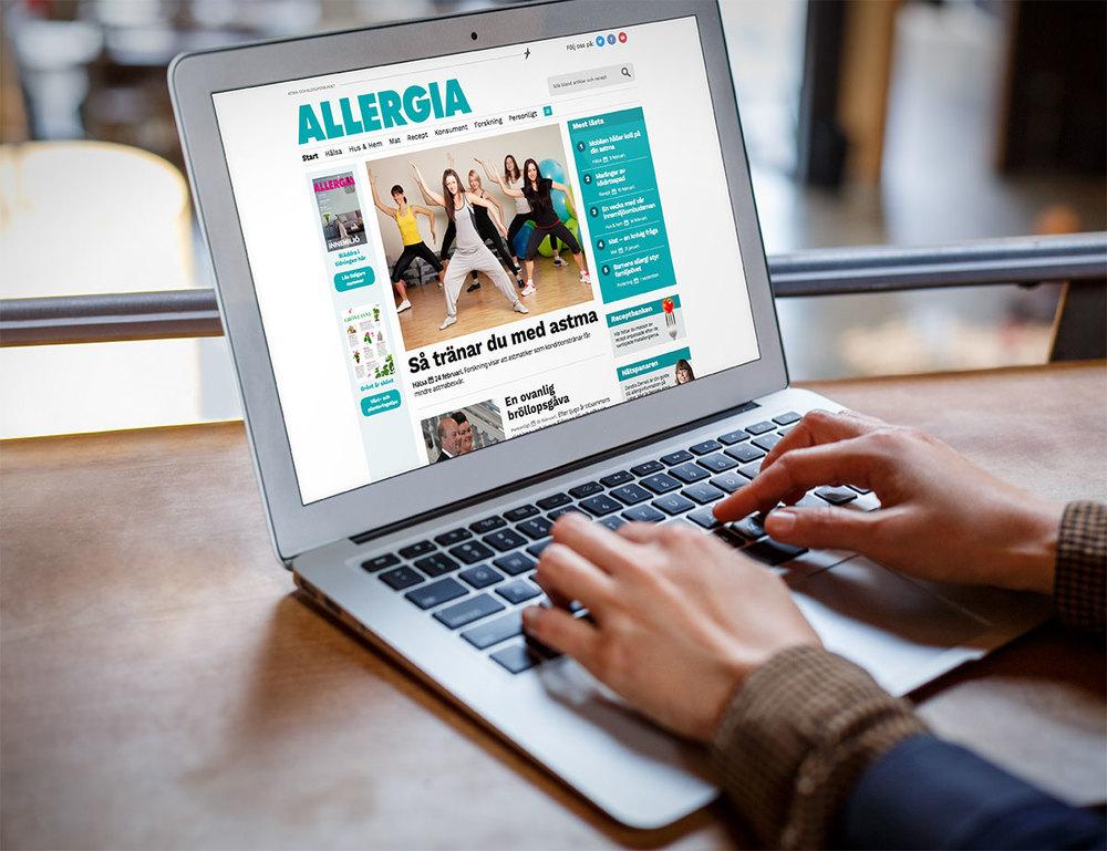 Vi gjorde om Astma- och Allergiförbundets medlemstidning Allergia till webbtidning, med stort fokus på att göra livet lätt för redaktörerna