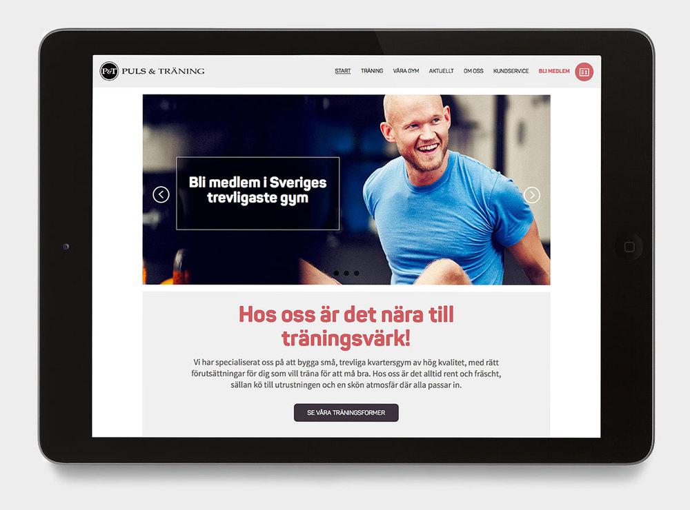 Puls & Tränings webbplats hanterar medlemsregistrering för över 60 gym