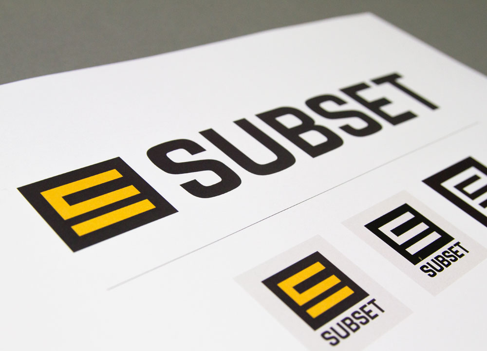 Subsets nya logotyp, här utan payoff