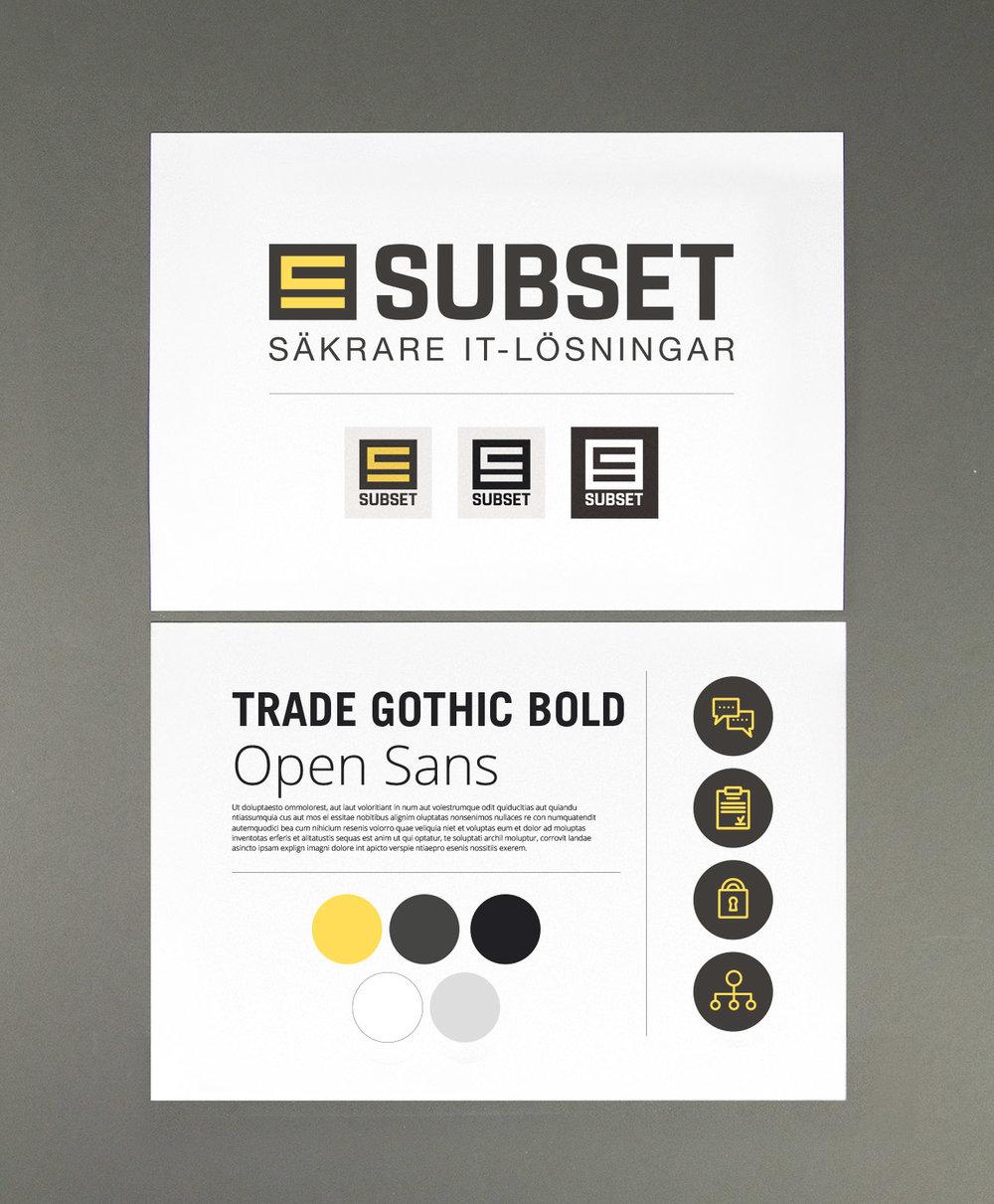 Att utveckla en ny grafisk profil handlar om mer än att designa om logotypen. Här ser du bland annat nya ikoner, färger och typsnitt