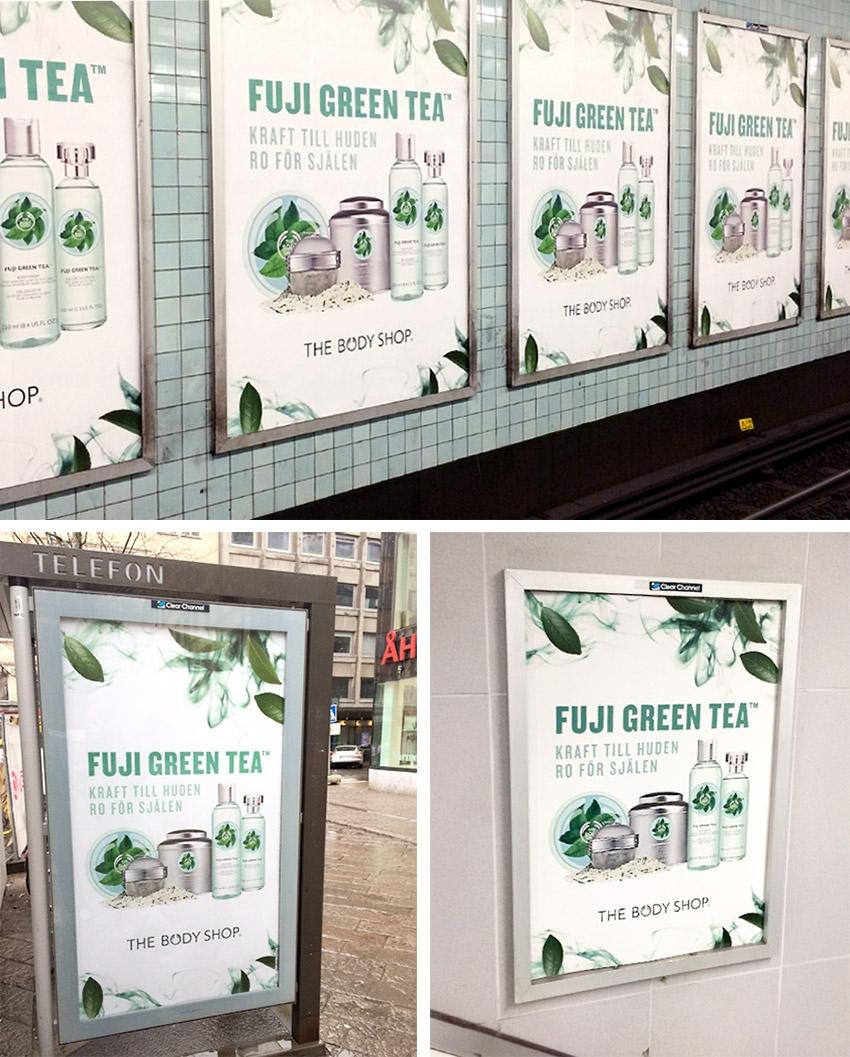 NKEL tog fram en rikstäckande utomhuskampanj åt The Body Shop.