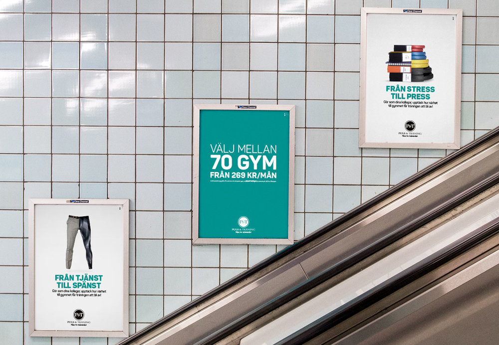 Kampanjen syns i tunnelbanan.