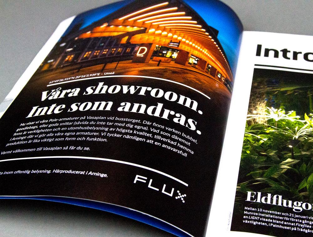 Annons Flux i Ljuskultur nummer 01/18.
