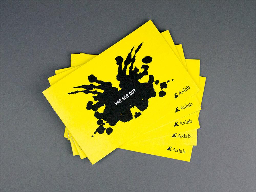 Axlab brochyr signerad nkel, reklambyrå sverige