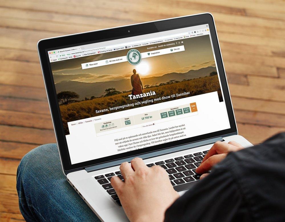 Läs & Res webbsida designad av nkel reklambyrå Stockholm
