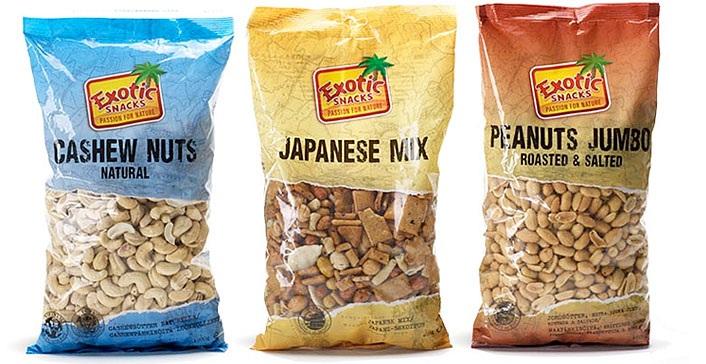 Nya förpackningar för Exotic Snacks