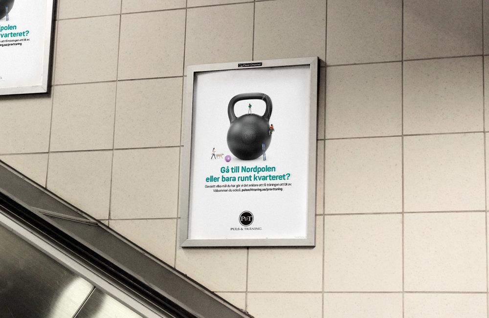 Ny reklamkampanj för Puls & träning signerad Nkel kommunikation, en reklambyrå i Stockholm.