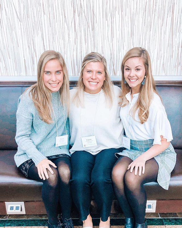 These three adorable sisters just attended the Adelphean Compass!!!! 💎💎💎 #ourfearlessleaders #lovethem