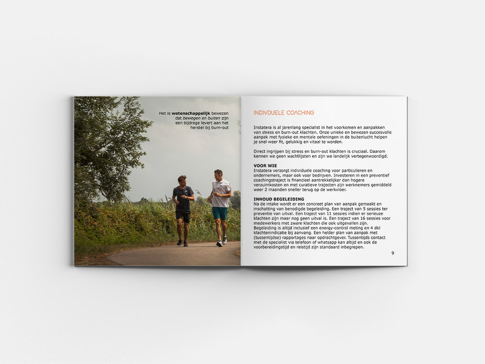 Brochure Instatera - specialisten in burn-out en stressmanagement