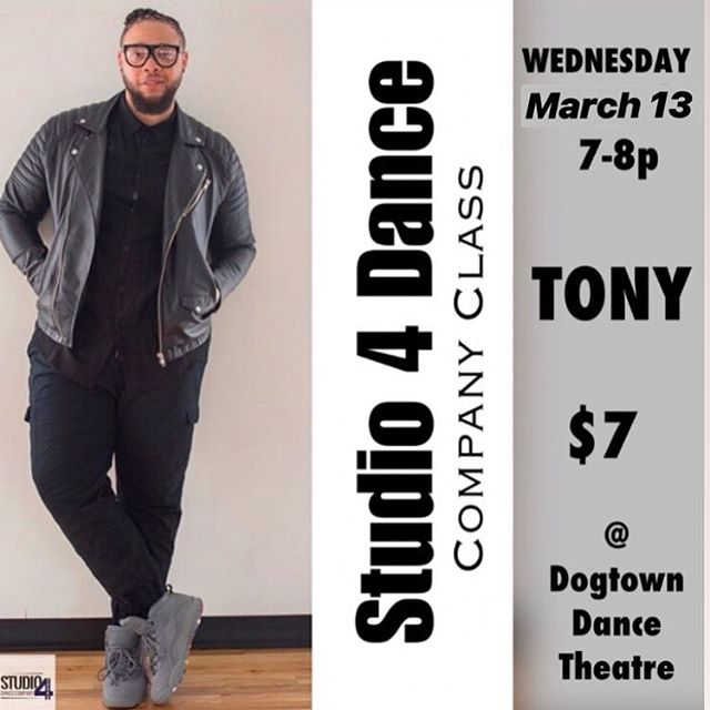 We'll 👀 you in class TONIGHT w/ @coldentrayvon for Company Class!!! Only $7 @dogtowndancetheatre, 7-8pm! . . #wervahiphop