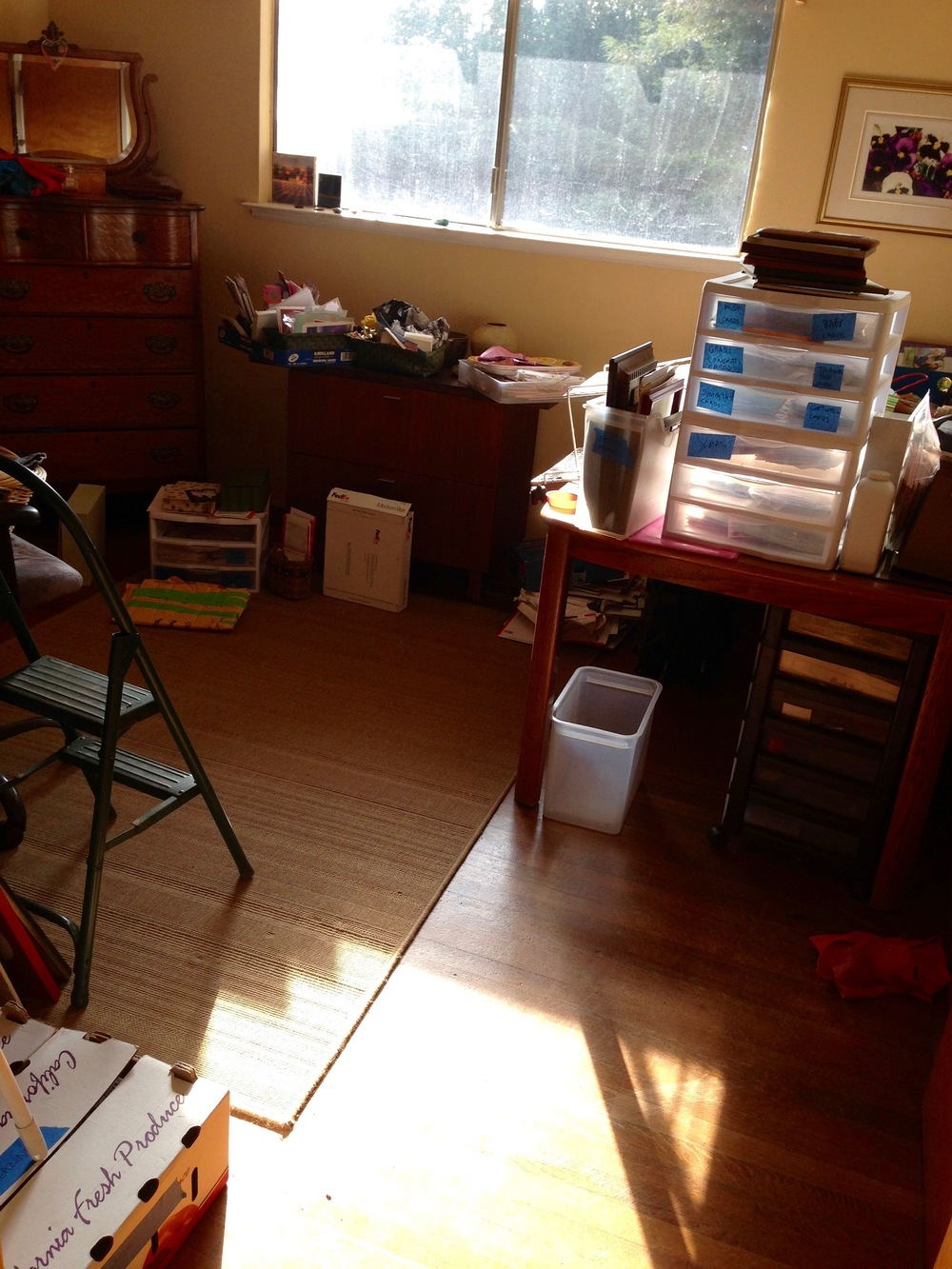 Office before being organized.