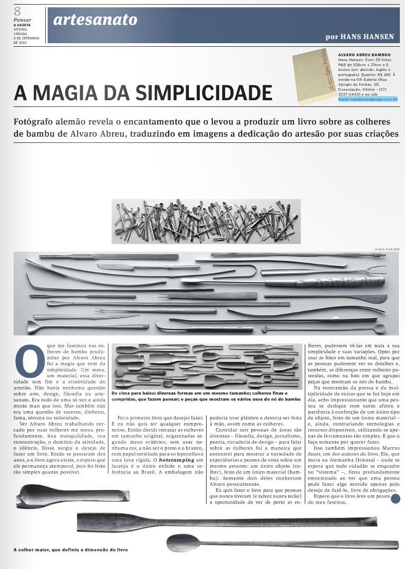 Jornal A Gazeta - 8 de setembro de 2012