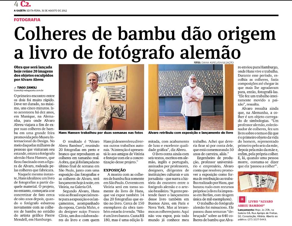 Jornal A Gazeta - 31 de agosto de 2012