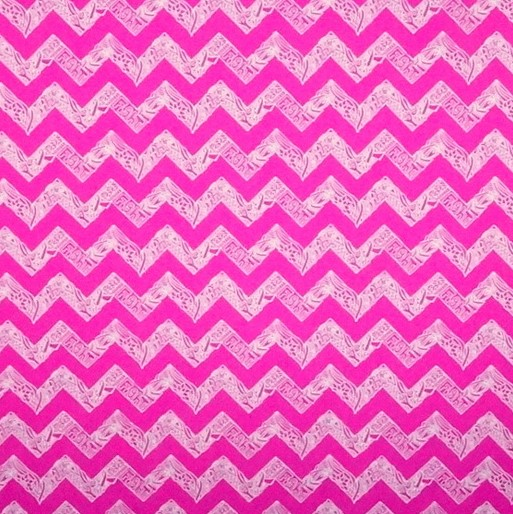 Pink Chevron and Ribbons