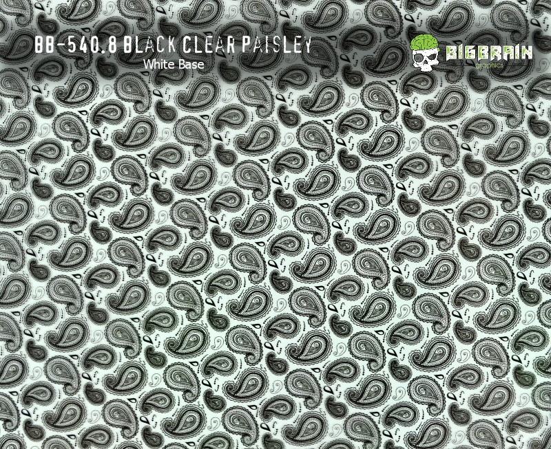 Black Clear Paisley