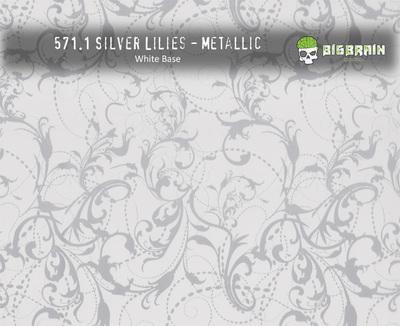 Silver Lilies- Metallic
