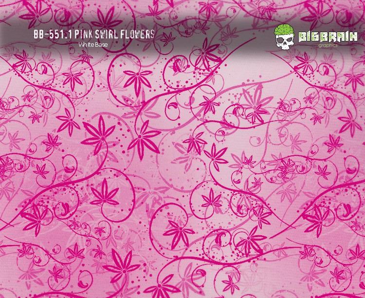 Pink Swirl Flowers