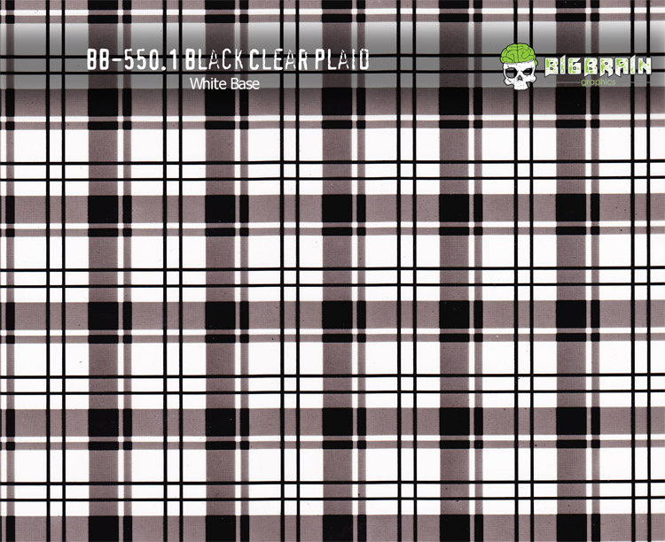black clear Plaid
