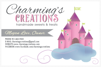 One Logo Option for Charming's Creations, Handmade Sweets & Treats