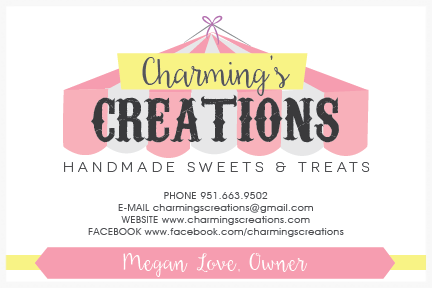 Second Logo Option for Charming's Creations, Handmade Sweets & Treats